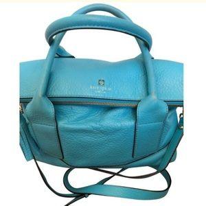 Turquoise Blue Leather Satchel